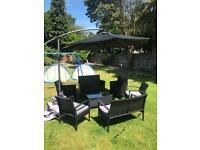 Garden furniture set + parasol