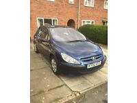 Peugeot 307 diesel 1.4 diesel 5door £30 a year tax