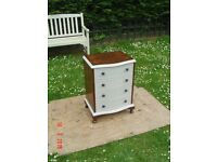 Retro / Shabby Chic Chest of Four Drawers. Oak Stained and Chalk Painted. Can Deliver.