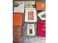 Various graphic Design and Art books
