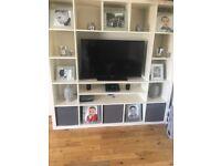 White large tv unit