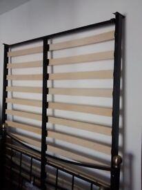 Double metal, slatted bed frame