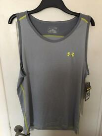 Under armour gym / running vest - large men's - new