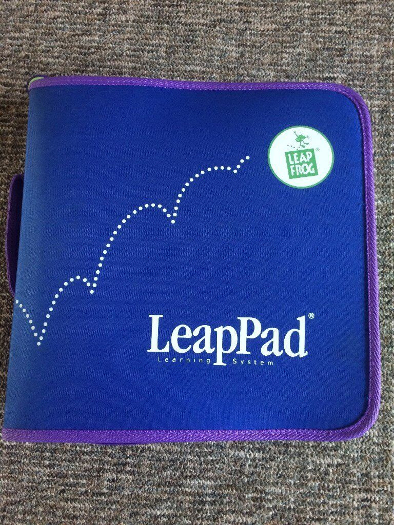 LEAP FROG LeapPad with 6 books, good used condition