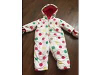 Mothercare snowsuit 6,9 month