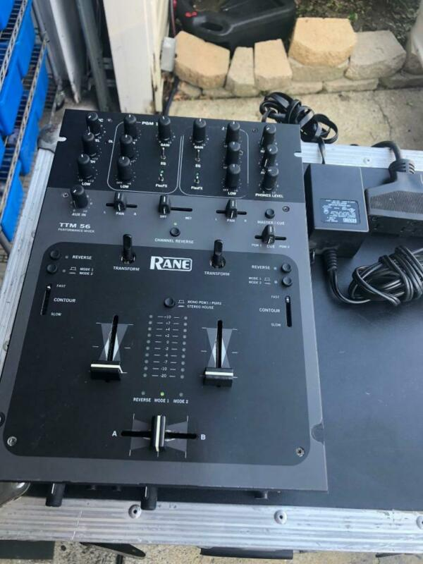 Rane TTM56 dj battle mixer with original power supply - nice