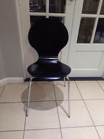6 black Marks & Spencers chairs