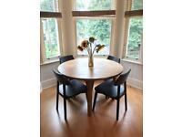 Pine circular dining table