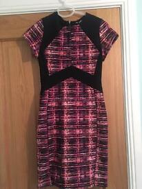 Bodycon pattern Miss Selfridge dress (petite size 10)