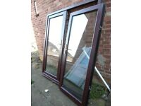ZENITH MAHOGANY UPVC DOUBLE GLAZED FRENCH DOORS