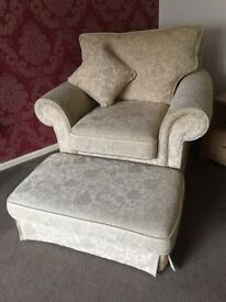 Beautiful, Jacquard Fabric, Settee, Armchair and Pouffe