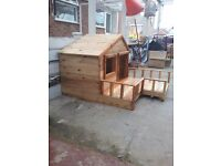 Hand made dog kennel