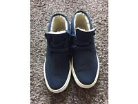 "Ladies size 6 navy ""Ralph Lauren"" casual Plimsolls"
