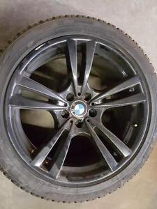 """OEM BMW 20"""" Staggered set up for X5, X5M, X6 with Winter Tires"""
