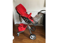 stokke xplory pram and carry cot