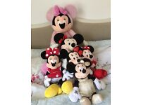 Large Minnie Mouse soft toy collection