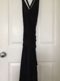 Black cocktail dress, size 10