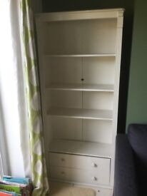 freestanding white bookcase NOW SOLD
