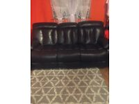 Woodville two+three seater recliner dark