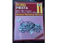 Mk1 ford fiesta NOS Haynes manual, unopened