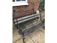 2x lovely garden benches
