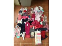 63 Item Baby Girl Clothing Bundle 3-6 Months Including New Clothing Worth Over £40!