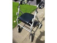 MOBILITY WALKING AID WITH SEAT AND FOOTRESTS