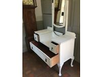 """Lovely antique """"shabby chic"""" Edwardian dressing table. Painted using Annie Sloane paints and waxed"""