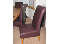 Six dining room chairs for sale