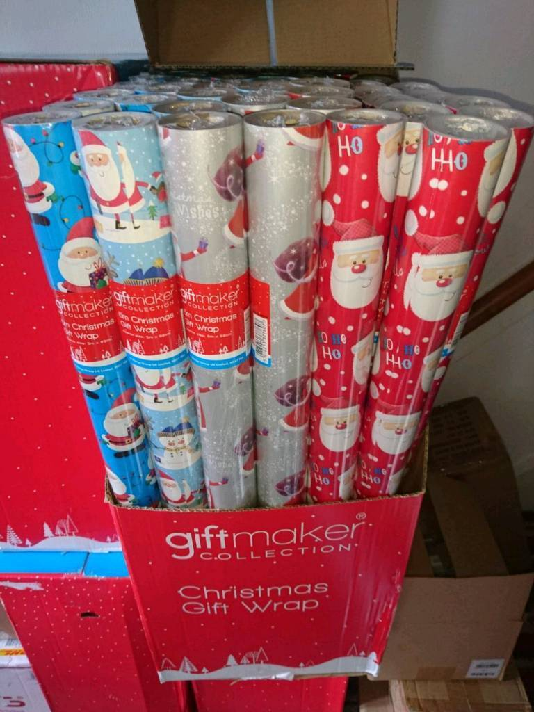 80 X 5 METER ROLLS OF CHRISTMAS GIFT WRAP.