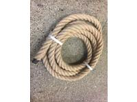 28mm natural decking rope x 4.4 metres, brand new decking garden handrail rope