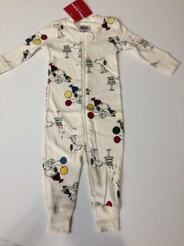 Hanna Andersson baby boy coverall sleepsuit 3  6 9 12 18 24 m 2 3 y snoopy