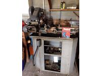 Myford Super 7 Metalworking Lathe, Gearbox and Power Crossfeed with Accessories and some Stock