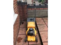 I got a petrol lawnmower in good condition works fine and with grass box
