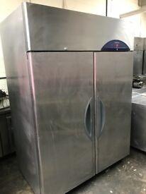 Fish fridge, commercial Williams double doors upright fish fridge