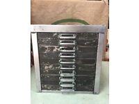 vintage Industrial 10 drawer a4 office filing cabinet Storage