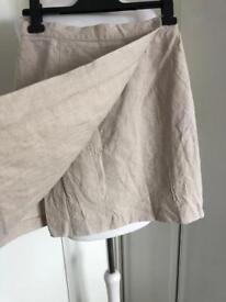 Monsoon Linen Wrap Up Summer Skirt size 8/10