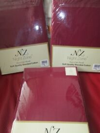3 pairs of 4 foot fitted sheets NEW
