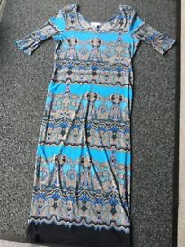 Blue/ multi RedHerring dress, size 10, worn once, stretchy