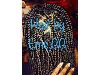 MOBILE AFRO HAIR BRAIDING AND EUROPEAN WEAVING IN NW LONDON.