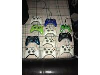 11 x Xbox 360 controllers