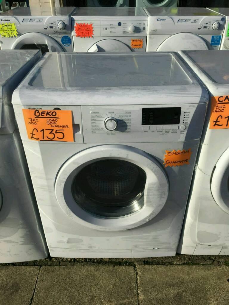 BEKO 7KG 1500 SPIN WASHING MACHINE IN WHITE
