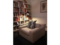 Habitat contemporary-style 4-seater sofa with 2 armchairs