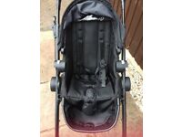 Black city select baby jogger double pram . Comes with basket, raincovers and all adapters