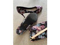 Heels & matching clutch bag