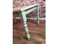 Brand New Painted Farmhouse Pine Dining Table / Extending Table - in Huge Range of Adaptable Sizes