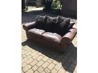 Multi York leather sofas - 2 and 3 seater