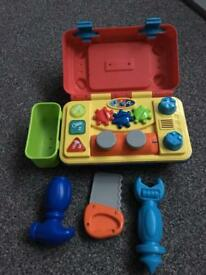Toolbox with sounds lights and activities