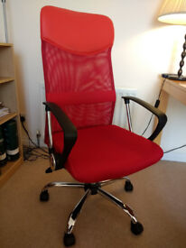 Adjustable Office Chair - Red