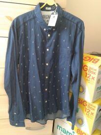 Jack Jones New Casual Blue Shirt